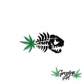 420 culture cannabis sticker piranha